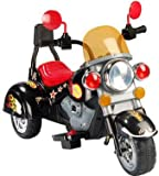 MINI HARLY STYLE KIDS RIDE ON ELECTRIC RECHARGEABLE BLACK MOTORBIKE+ mp3 input