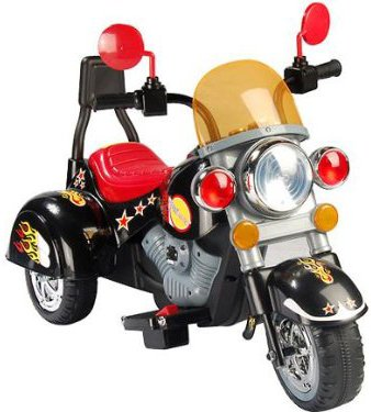 Image of NEW DESIGNED MINI HARLEY STYLE KIDS RIDE ON RECHARGEABLE DELUXE BLACK SUPER MOTORBIKE WITH MP3 INPUT.