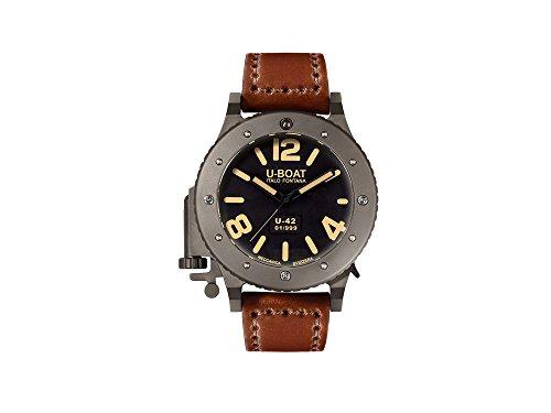 U-Boat Montre bracelet Mixte en U 42BK voiture 53MM Analogique Automatique Cuir 6157
