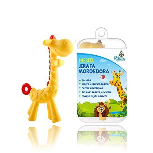 Inesita jirafa mordedora. Juguete caja regalo. Mordedor