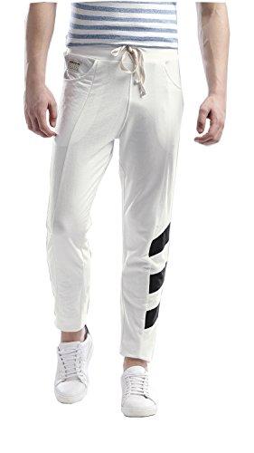 Hubberholme Men's Cotton Track Pant (White, 42, 7074-42)
