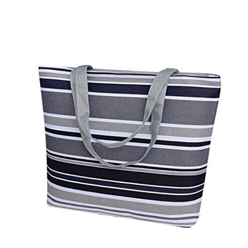 Xjp Women Canvas Handbag Shoulder Bag Shopping Bag (Grau)