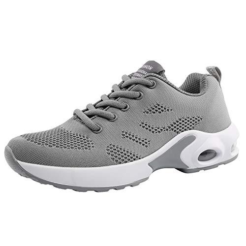 kashiwu Nuovo Scarpe Sportive da Corsa Air Sports da Donna Scarpe da Ginnastica Anti-Shock Running Jogging Sneakers(35 EU, Grey)