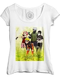 T-Shirt Frau Großer Runder Kragen Naruto Team 7 sai sakura kakashi Anime  Manga 2b452fdd10