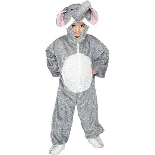 ostüm Kinderkostüm grau 5-8 Jahre 128 - 140 cm Elefantenkostüm Ganzkörper Outfit Tierkostüm ()
