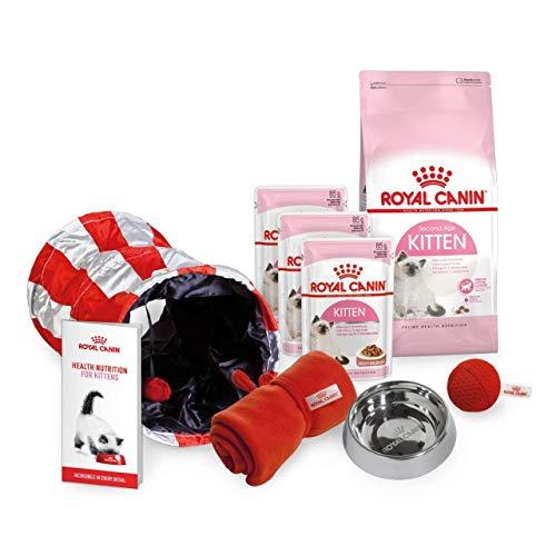 Royal Canin Starter-Set für Kätzchen, Geflügel, Hühnchen, Rindfleisch, Trockenfutter und Nassfutter mit - Nassfutter Royal Kitten Canin