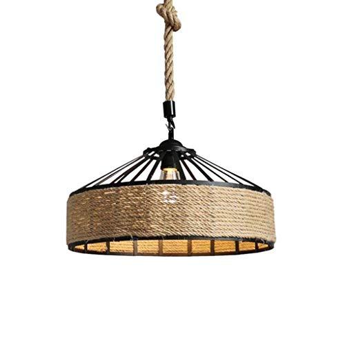 Yqzq- Creativo Vintage lampadario a spago Cucina Semplice plafoniera a LED for Camera da Letto Bagno Cucina Soggiorno Sala da Pranzo