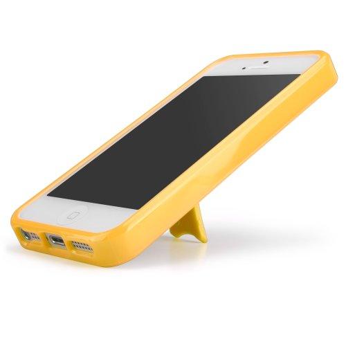OmniView BoxWave Coque pour Apple iPhone 5 Motif Durable, coque de protection rotation à 360° avec support Horizontal et Vertical pour une visualisation arrière en TPU givré mat avec bor