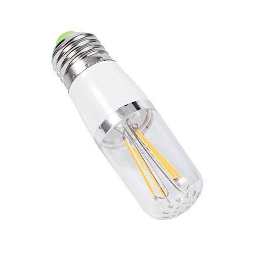 GLOGLOW 3W 4W 6W E27 LED Leuchter-Licht-Lampe, dauerhafte Glühlampe-Weinlese-Art-Warmes Kühles Weiß 85~265V für Hauptlicht-Befestigungen und Dekoration(4w-Warm White)