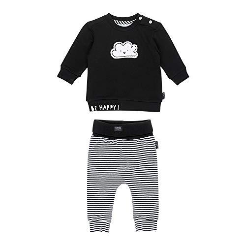 Feetje Baby-Jungen Zweiteiliger Sweat-Anzug Wolke, schwarz-weiß, 56 - Sweat Jungen Anzüge