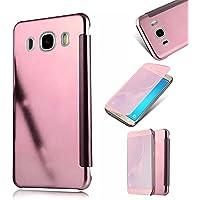 Galaxy J5 2016 Fundas,MingKun Samsung Galaxy J5 2016 J510 Funda de Cuero TPU Carcasa con Tapa y Cartera Cierre Magnético Caso Cover