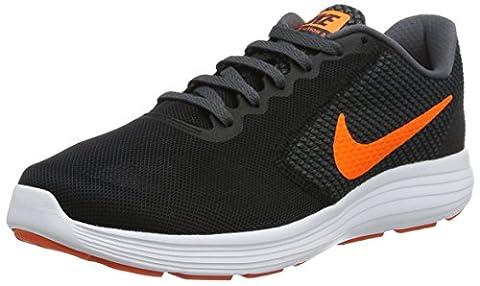 Nike Herren Revolution 3 Laufschuhe, Mehrfarbig (Negro / Naranja / Black / Total Orange / Dark Grey / Turf Orange), 45.5 EU