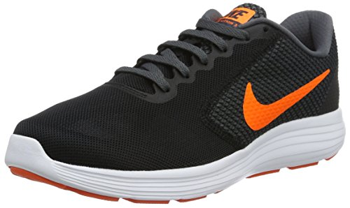 Nike Revolution 3, chaussure de sport homme, Nero (Black/Total Orange/Dark Grey/Turf Orange/White), 42.5 EU