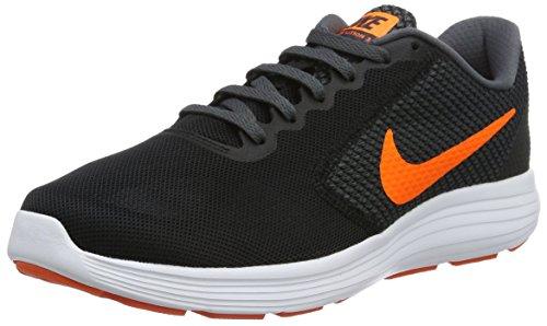 Nike Men's Revolution 3 Running Shoes, Black (Black/Total Orange/Dark Grey/Turf Orange), 6.5 UK