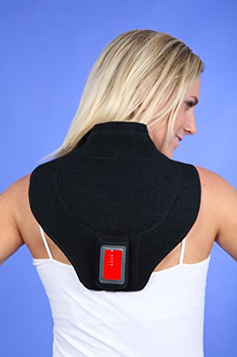 enbandage - Bandage für den Nacken Rücken Schultern Nackenwärmer mit Heizung! Nackenschmerzen ade! (Hochleistungs-heizung)