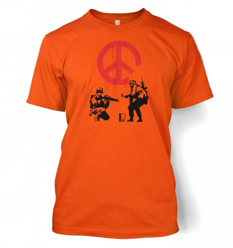 CND Soldaten Banksy Männer T-Shirt Orange