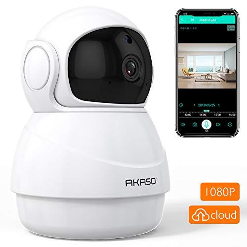 AKASO Cámara de Seguridad WiFi 1080P 360° Cámara IP de Vigilancia Interior...