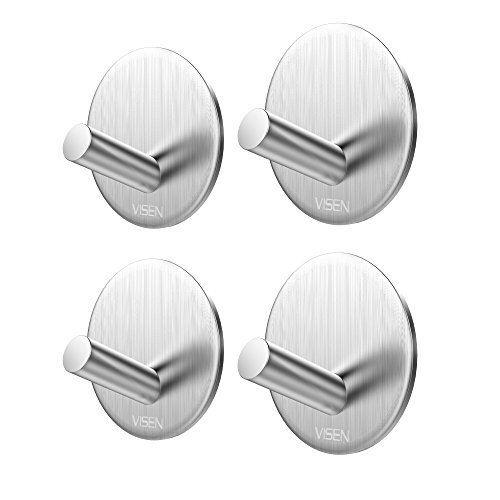 visen selbstklebend Wand Aufhänger Handtuch Haken für Kleidung Mantel Hat Schlüssel Bad und Kopfhörer (Pack von 4Haken) (Kopfhörer Pack)
