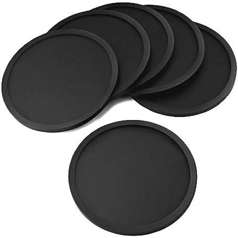 eBoot Silicona Posavasos (6 Piezas - Negro)