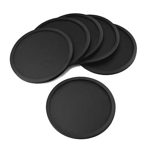 eboot-silicone-drink-coasters-cup-mat-cup-covers-set-of-6-black