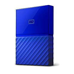 WD My Passport 1TB Portable External Hard Drive (Blue)