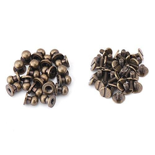 20Pcs Solide Bronze Nagel Nieten Runden Kopf Bronze Stud Schraube Screwback Cap Gürtel Strap (Benutzerdefinierte Caps Hüte,)