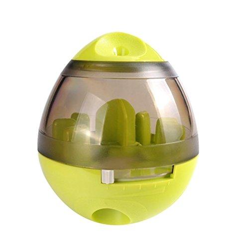 SHIZHESHOP Haustier, das Lebensmittelball undicht ist, füllte Flasche des Hundekatze-Bildungsspielzeughaustiers an (Color : Green)
