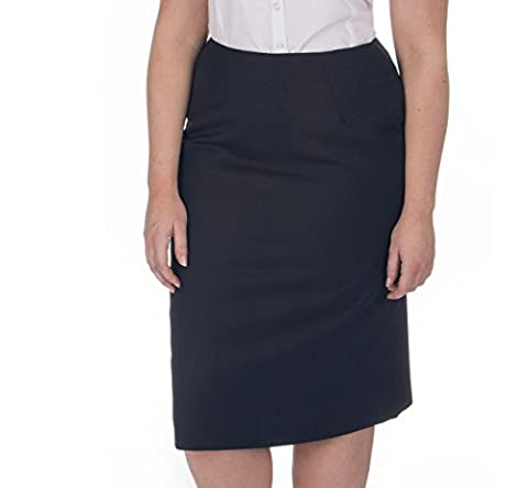 Ensemble - Women's Plus Size Pinstripe Pencil Skirt (Sizes 16-26) Fully Lined Concealed Zip - Professional Business Midi Dress For Work