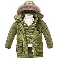 Gimitunus Niños 2 en 1 Impermeable a Prueba de Viento Grueso paño Grueso y Suave Chaqueta de esquí con Capucha cálida de esquí (no Incluye suéter Blanco) (Color : 110cm)