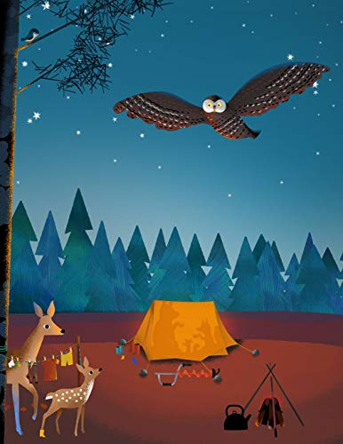 BEAR & FOX Journal : First night camping in the Forest · College Ruled Notebook (Bear and Fox Notebooks, Band 4)
