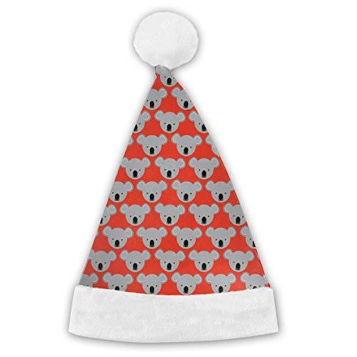 Thema Partei Strand Kostüm - VTYOSQ Nettes Koala-Muster Erwachsene u. Kinderweihnachtsweihnachtsmann-Hut-Partei liefert Feiertags-Thema-Hut-Kostüm-Weihnachtsdekoration