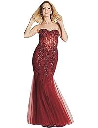 b546178284 Tiffanys Illusion Prom Wine Eliza Sparkly Embellished Prom Dress