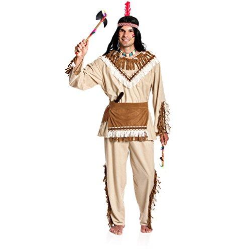 Kostümplanet® Indianer Häuptling Kostüm Indianerkostüm Kostüm Indianer Herren Größe - Kostüm Für Indianer