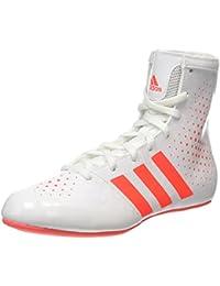 adidas Ko Legend 16 2, Chaussures de Boxe Mixte Adulte, Blanc ( Blanc/Corail) , 36 EU
