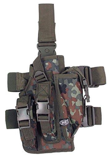 etui pistolet, fix. ceinture, cuisse, droit, Couleur:flecktarn/BW camo