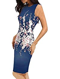 feiXIANG Sommer Frauen kleider ärmellose Bodycon Ladies Evening Party Dress  ärmelloses Kleid… 11bbb594eb