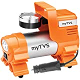 myTVS TI-4 Car Metallic Heavy Duty Tyre Inflator Portable Air Pump Compressor with 2 Years Warranty