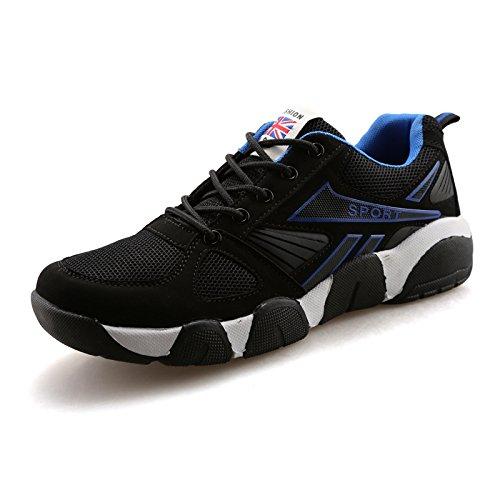 Chaussures chaussures occasionnelles couples chaussures Forrest Gump chaussures de sport pour hommes black and blue