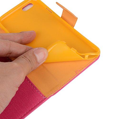 """MOONCASE iPhone 6S Coque, Portefeuille Porte-cartes Housse en Cuir Etui à rabat pour iPhone 6 6S 4.7"""" Bookstyle [Antidérapant] TPU Case avec Béquille Teal Gris"""