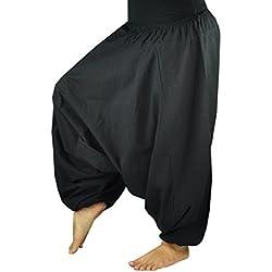 virblatt pantalones bombachos de yoga muy cómodos y de corte profundo como ropa hippie y pantalones cagados para hombres y mujeres S - L– Geheimnisvoll