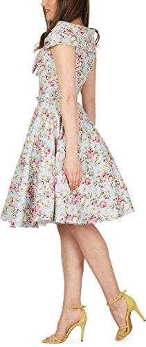 Black Butterfly 'Cynthia' Vintage Amity Kleid im 50er-Jahre-Stil (Himmelblau, EUR 52 – 5XL) - 2
