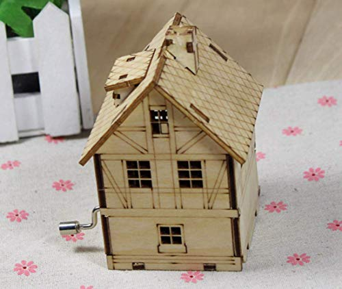 ZGFJST DIY Kabine Puzzle Hand Musik Glocke Holz Dekoration Holz Spieldose DIY Puzzle Größe: 10 * 8 cm (Kabine Dekoration Thema)