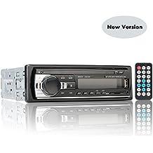 Auto Radio Estéreo Bluetooth de Coche, Rixow Reproductor Audio MP3 en el Tablero Ajustable para Tarjeta SD, USB, y Teléfono Móvil, Modelo JSD-520 con Pantalla LCD. Versión Actualizada.