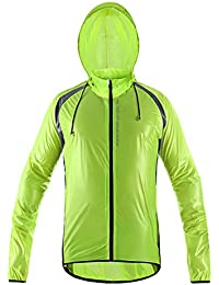 oeste ciclismo ciclismo unisex reflectantes Impermeables y cortavientos transpirable Bike Chubasqueros Impermeable Para Bicicleta el viento chaqueta de lluvia, Niño unisex juventud Mujer hombre, verde