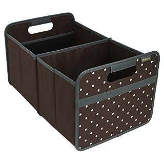 Meori A100009 Faltbox 30 Liter, Kakao braun Punkte Aufbewahrungsbox Aufbewahrungskiste Box Kiste