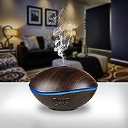 Sworway Essential Oils Diffuser, 500ml Wood Grain Ultrasonic Diffuser, Auto Shut-Off, Cool Mist Humidifier wit