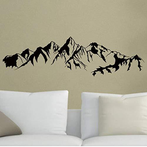 Gamma di montagne Adesivi murali in vinile Natura Paesaggio Decorazione della casa Soggiorno TV sfondo Porta adesivo Natura Vista impermeabile