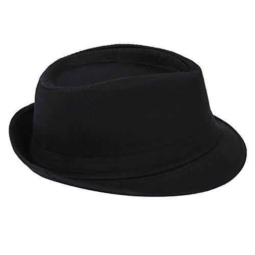 SODIAL (R) 1 Stueck Schwarzer Fedora Plain Jazzhut Outfit Zubehoer fuer Gangster (Männer Outfits Für Gangster)