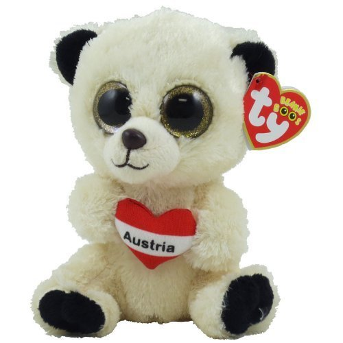Preisvergleich Produktbild TY Beanie Boos - AUSTRIA the Bear (Regular Size - 6 inch) (German Exclusive) by Ty