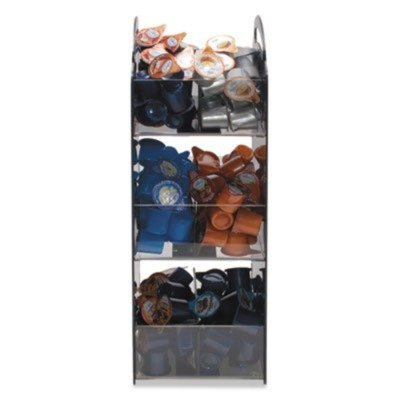 Compact Condiment Organizer, 6-1/8w x 8d x 18h, Black by VERTIFLEX (Catalog Category: Office Maintenance, Janitorial & Lunchroom / Food & Beverage) by Vertiflex 6.125